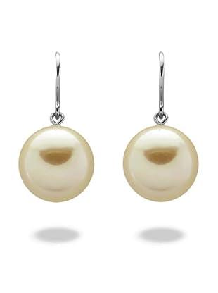 Perldor 60650187 - Pendientes de mujer de plata de ley con perla natural Marfil
