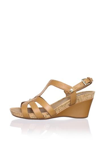 Geox Women's Roxy30 Wedge Sandal (Camel)