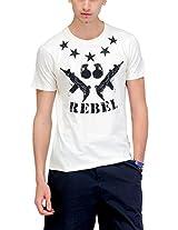Yepme Men's Beige Graphic Cotton T-shirt -YPMTEES0225_S