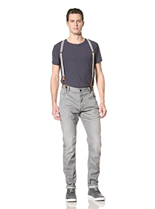 Scotch & Soda Men's Brewer Antifit Jeans with Suspenders (Steel Creel)