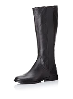 Adrienne Vittadini Women's Priscilla Gored Leather Boot (Black)
