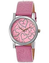 Maxima Attivo Steel Analog Pink Dial Women's Watch - 23347LMLI
