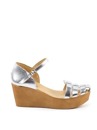 Misu Keil-Sandalette Halley (Silber)