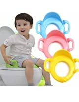 Children Kids Baby Toddler Potty Seat Cushion Toilet Urinal Training Stand Stool With Handle (Pink)