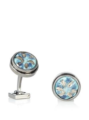 Ike Behar Artisan Blue Ceramic Cufflinks