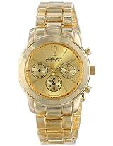 August Steiner Women's AS8087YG Swiss Quartz Multifunction Gold-tone Bracelet Watch
