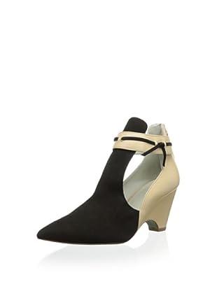 Plomo Women's Amelie Wedge Ankle Bootie (Black/Beige)
