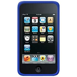 Amzer Silicone Skin Jelly Case for iPod touch 2G, 3G (Blue)