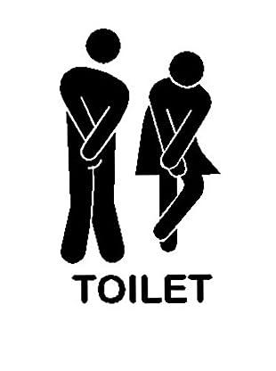 LO+DEMODA Wandtattoo Toilet