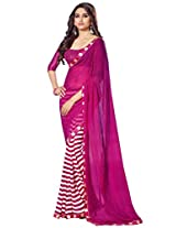 Ethnic Station Georgette Saree With Blouse Piece (Pf4880 -Pink)