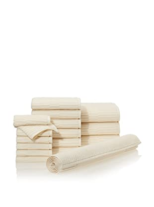 Chortex Oxford 16-Piece Bath Towel Set, Almond