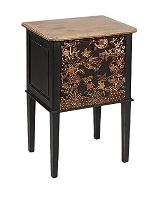 Colonial Style Nachttisch Batik schwarz