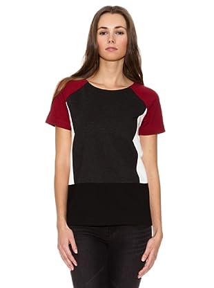 Mango Camiseta Sayit (Negro)