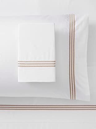 Downright Windsor Braid 400 TC Sateen Embroidered Sheet Set (Taupe)