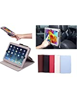 Premium Multi-functional Leather Case and stand - Flip Stand Cover with Elastic Hand Strap Mounting kit. For Ipad Air And Ipad Air 2 (BLUE)