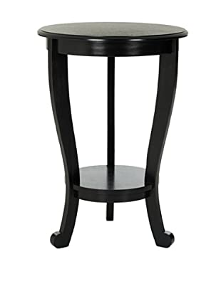 Safavieh Mary Pedestal Side Table, Distressed Black