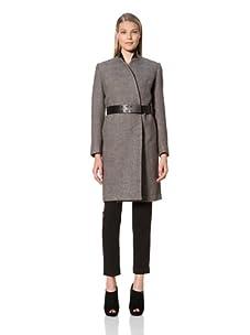MARTIN GRANT Women's Slim Belted Coat (Black)