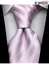 SPEAK Magnificent Mauve Diagonal Striped Tie