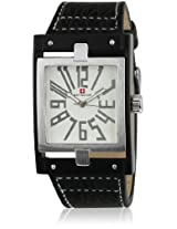 G3126 Black/White Analog Watch