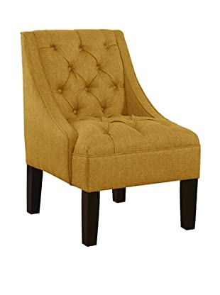 Skyline Tufted Swoop Arm Chair (French Yellow)