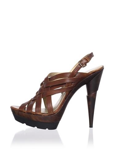 Stuart Weitzman Women's Spray Platform Sandal (Saddle Old West Calf)