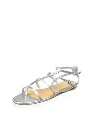 Badgley Mischka Women's Trista Gladiator Sandal (Silver)