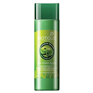 Biotique Bio Green Apple Fresh  Daily Purifying Shampoo And Conditioner  For Oily Hair And Scalp, 120ml