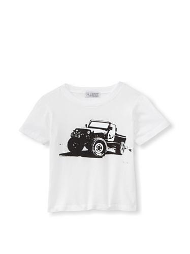 LA Lounge Boy's Safari Truck Crewneck Tee (White)