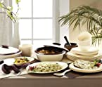 Signoraware Dinner Set with Double Wall Casserole - 27 Pcs (Mat Finish Plate)