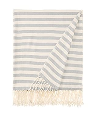 Nine Space Viscose from Bamboo Striped Throw Blanket (Steel Blue)