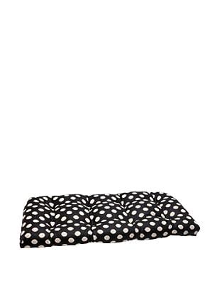 Waverly Sun-n-Shade Solar Spot Ebony Wicker Loveseat Cushion (Black/Cream)