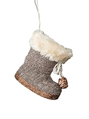Winward Handcrafted Boot Ornament, Brown
