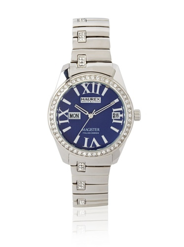 Haurex Italy Women's XS356DB1 Magister L Blue Dial Crystal Watch