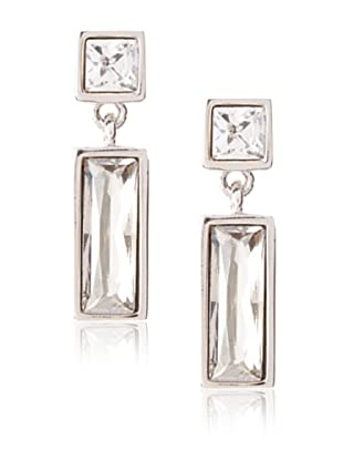 Judith Leiber Rectangular Crystal Drop Earrings