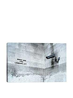 Banksy What Are You Looking At Security Camera Giclée On Canvas