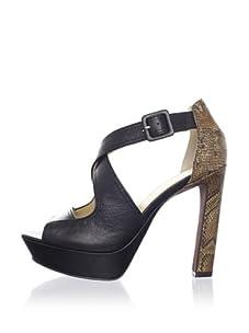 Luxury Rebel Women's Cassie Ankle-Strap Sandal (Black)