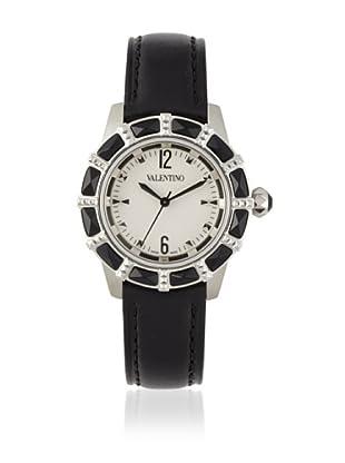 Valentino Women's Eden Black/Silver Leather Watch