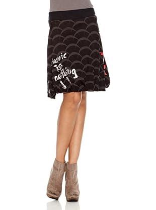 Desigual Falda Uxia (Negro Estampado)