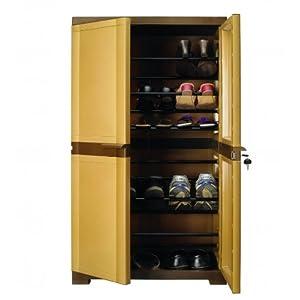 Nilkamal Freedom Shoe Cabinet - Dark and Sandy Brown