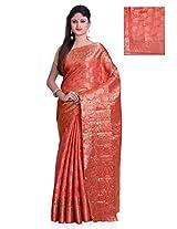 Meghdoot Artificial Silk Saree ( SHRUTHI_ST040_PEACH Woven Peach Colour Sari)