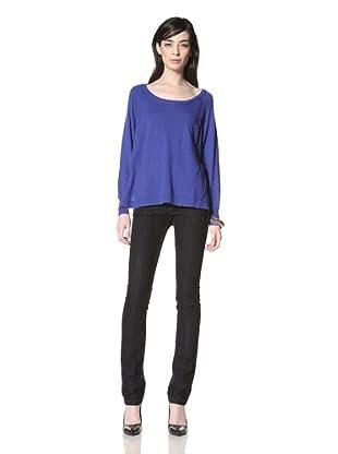 Central Park West Women's Dante Pocket Sweater (Cobalt)