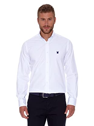 Polo Club Camisa Hombre Fitted Escudo (Blanco)