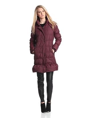 Via Spiga Women's Hooded Down Puffer Coat (Brandy)