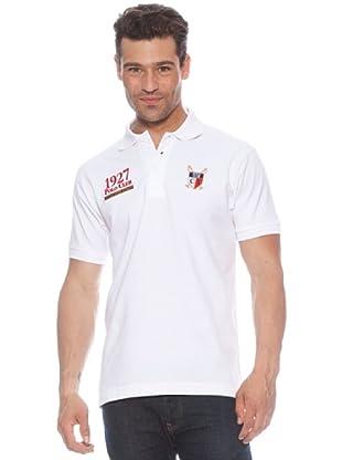 Polo Club Polo manga corta Escudo & Date (Blanco / Rojo)