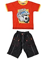 Kkp Kids World Baby Boys' Slim Fit Knicker and T-shirt (4-5 years)