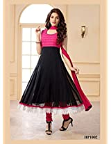 Latest Black and Pink Long Anrkali Dress