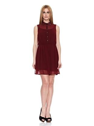 Pepe Jeans London Vestido Ives (Rojo Oscuro)