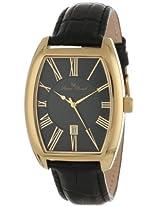 Lucien Piccard Men's 10029-YG-01 Grivola Ortlet Black Dial Black Leather Watch
