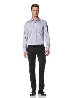 Valentino Men's Dress Shirt (Blue Pattern)
