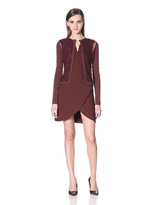 Versus Women's Lace Panel Cardigan (Burgundy)